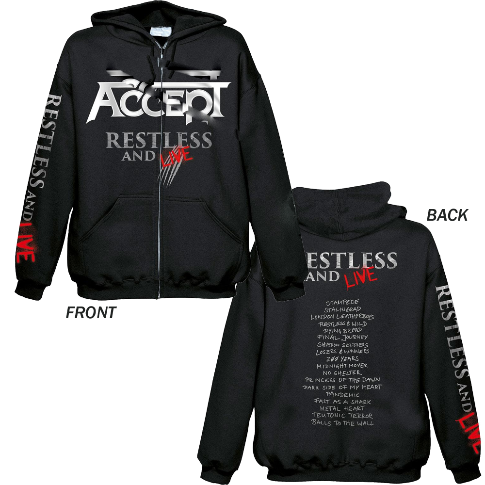 Accept - Restless And Live	 (Zip Hoodie)