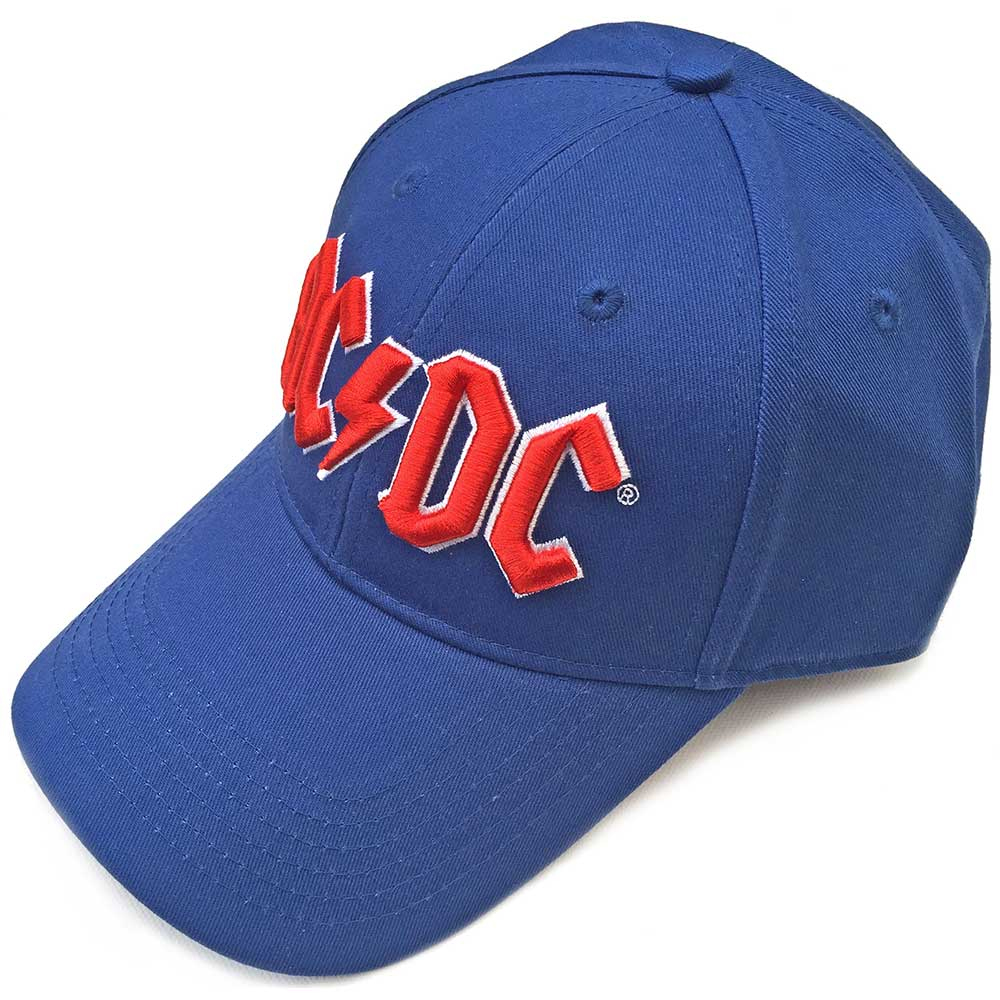 AC/DC - Red Logo (Mid Blue Baseball Cap)