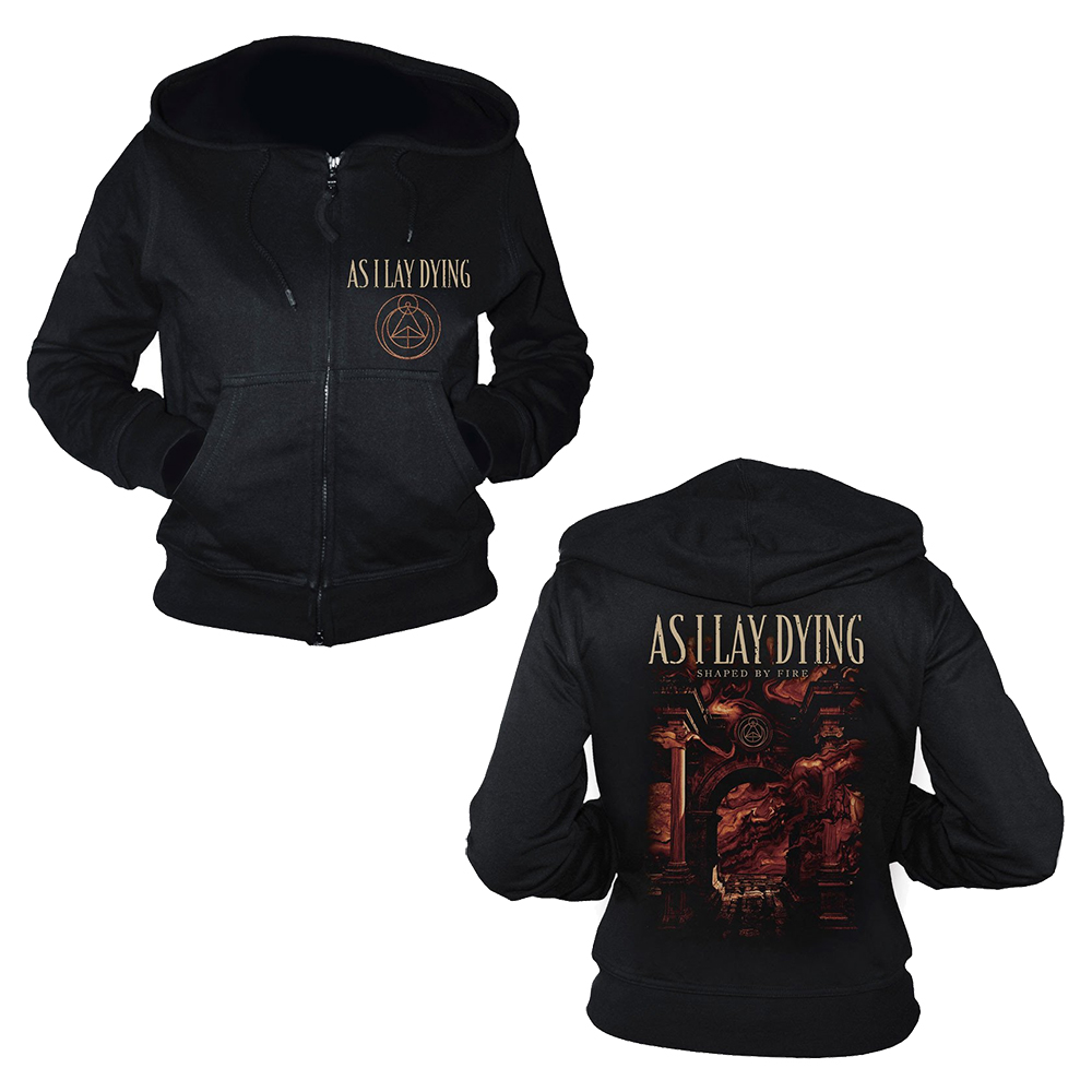 As I Lay Dying - Shaped By Fire (Ladies Zip Hoodie)