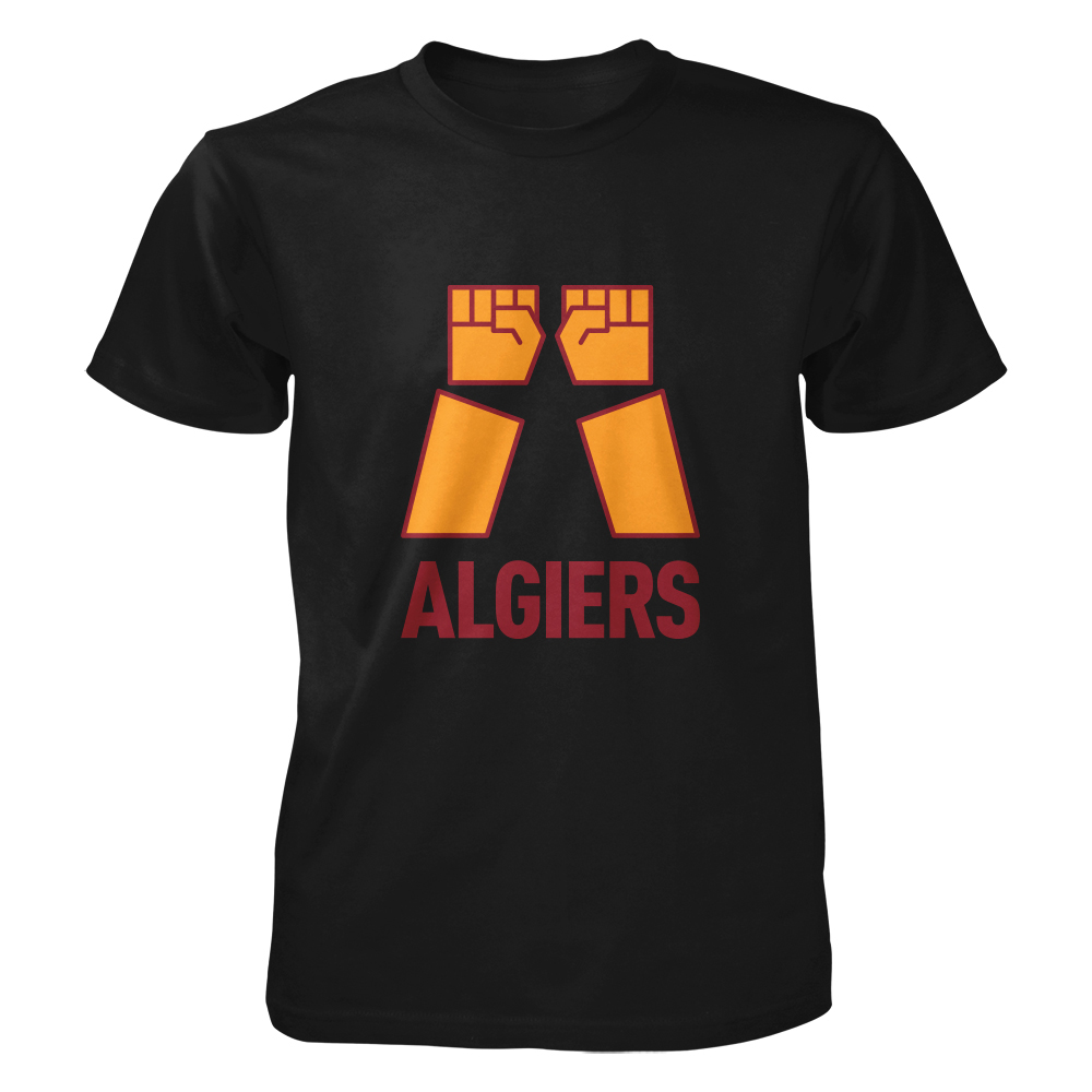Algiers - Two Fists Logo  (Black/Yellow)