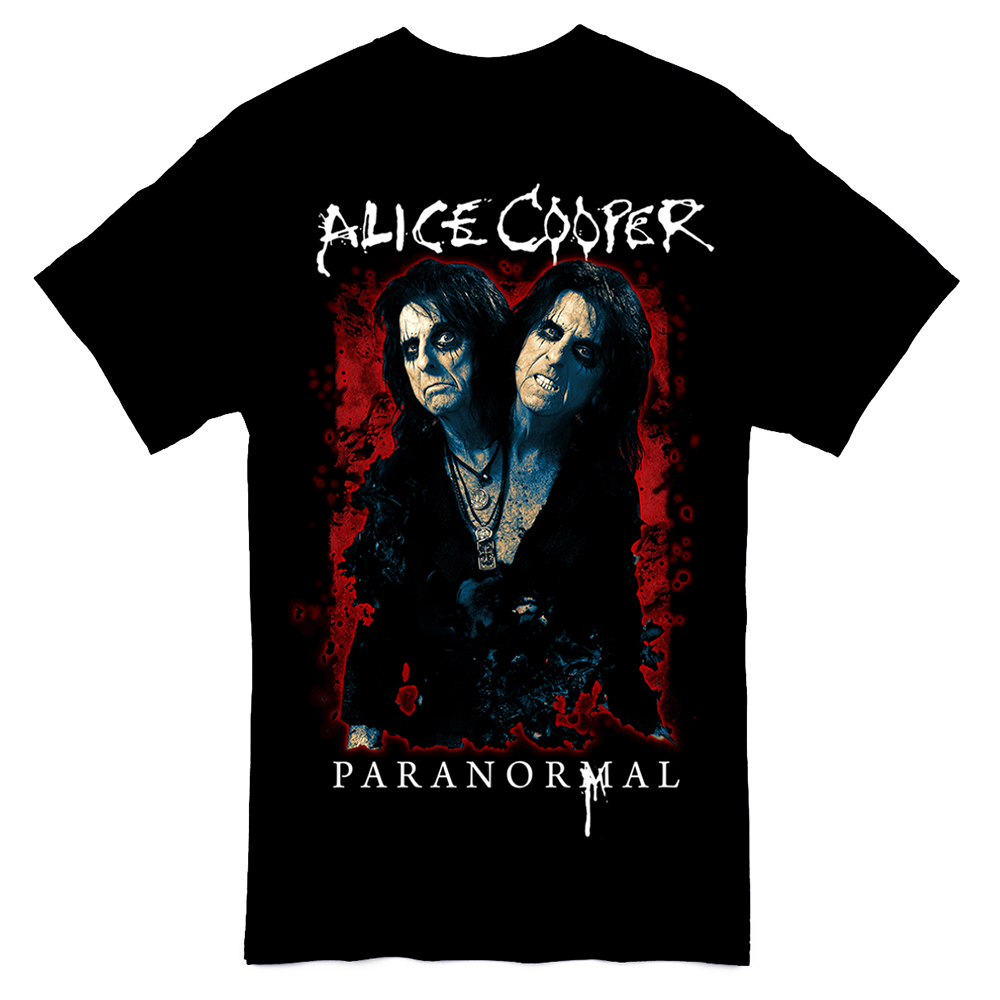 Alice Cooper - Paranormal Splatter 2017 Tour Date Back
