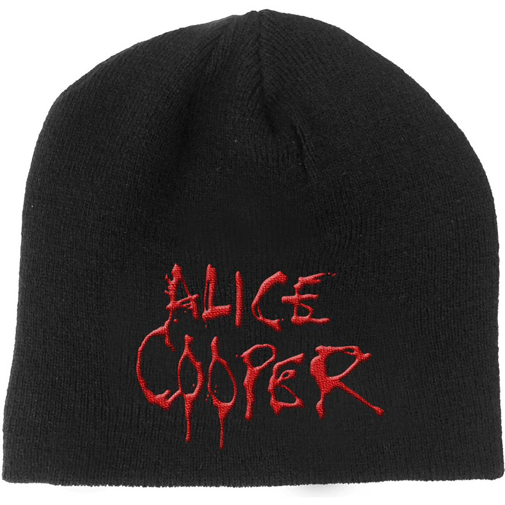 Alice Cooper - Dripping Logo (Beanie Hat)