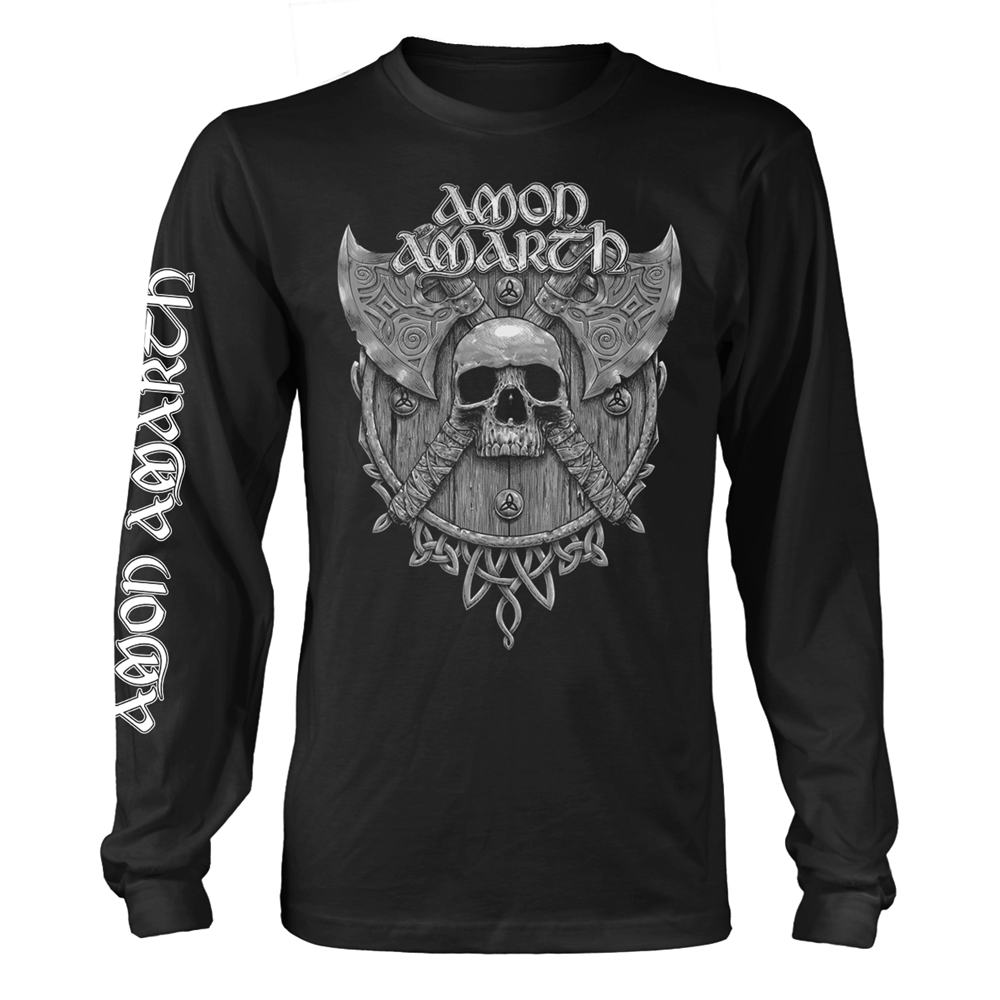 Amon Amarth - Grey Skull (Black)