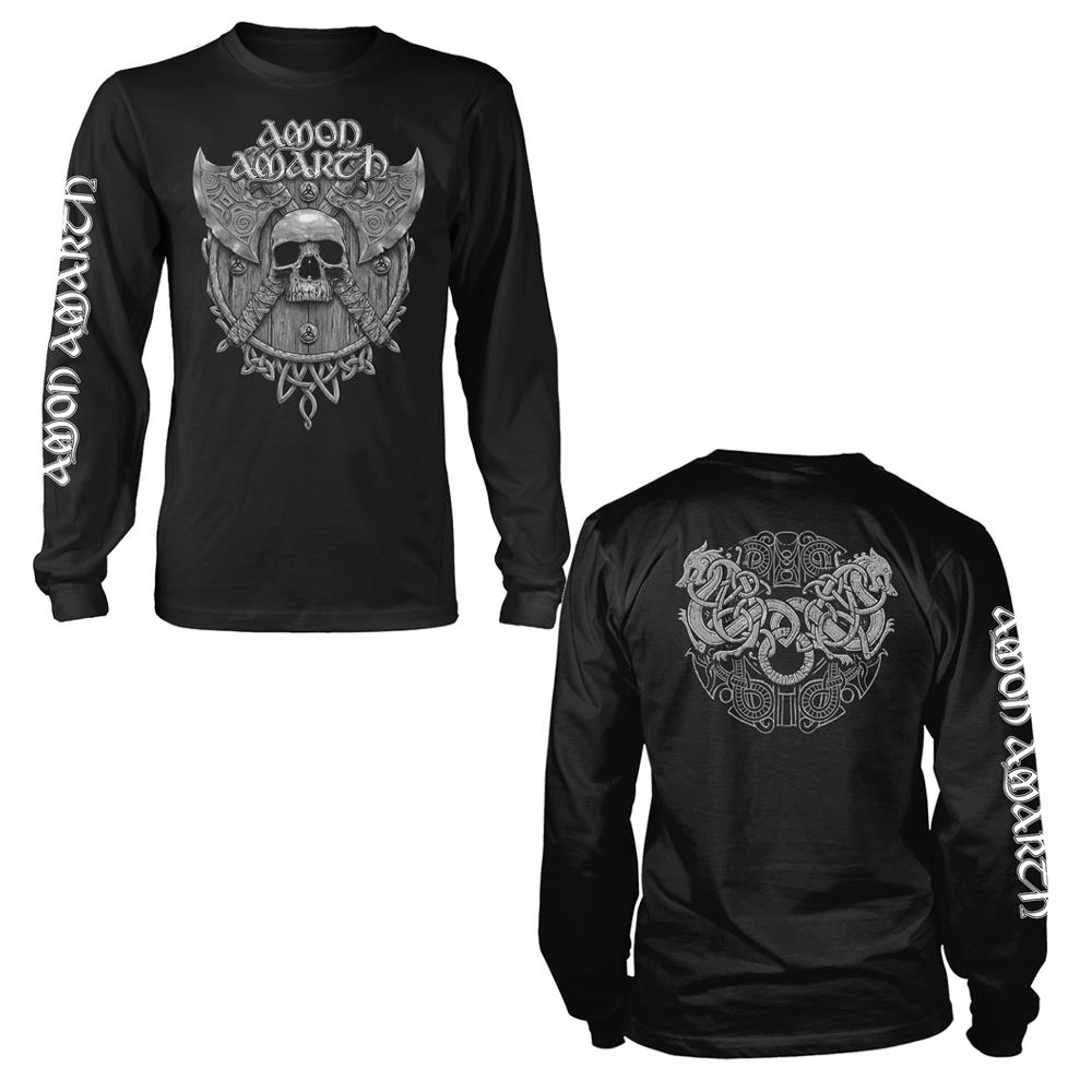 Amon Amarth - Grey Skull (Black Longsleeve)