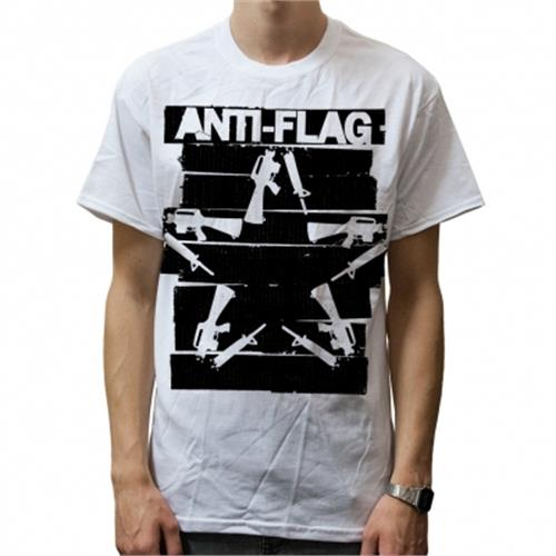 Anti-Flag - Duct Tape Gun Star (White)