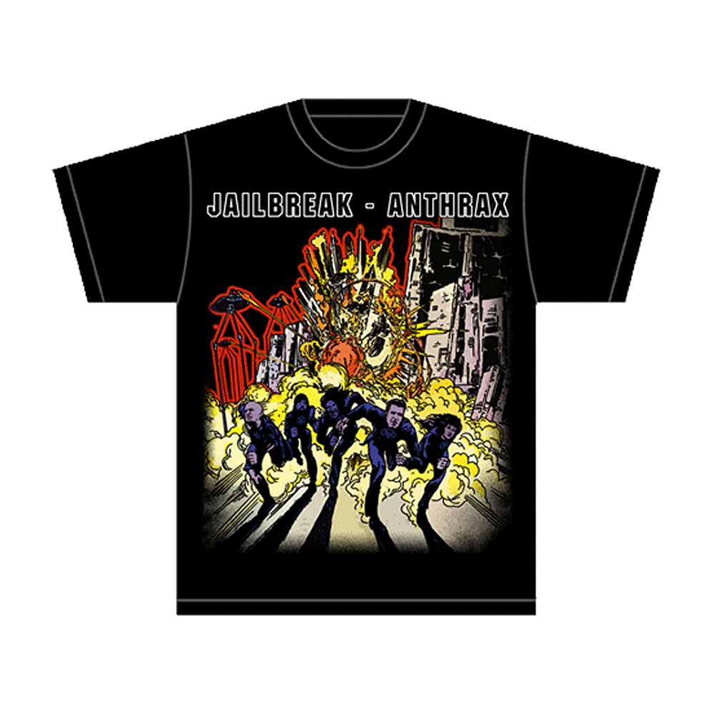 T shirt design queens ny - Anthrax Anthems Jailbreak