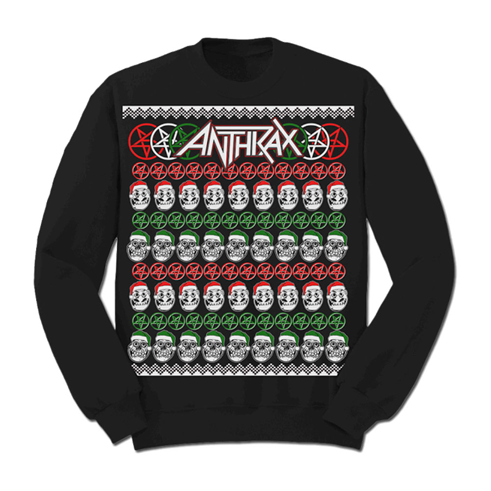 Anthrax - NOTMAN Skulls Christmas Crewneck