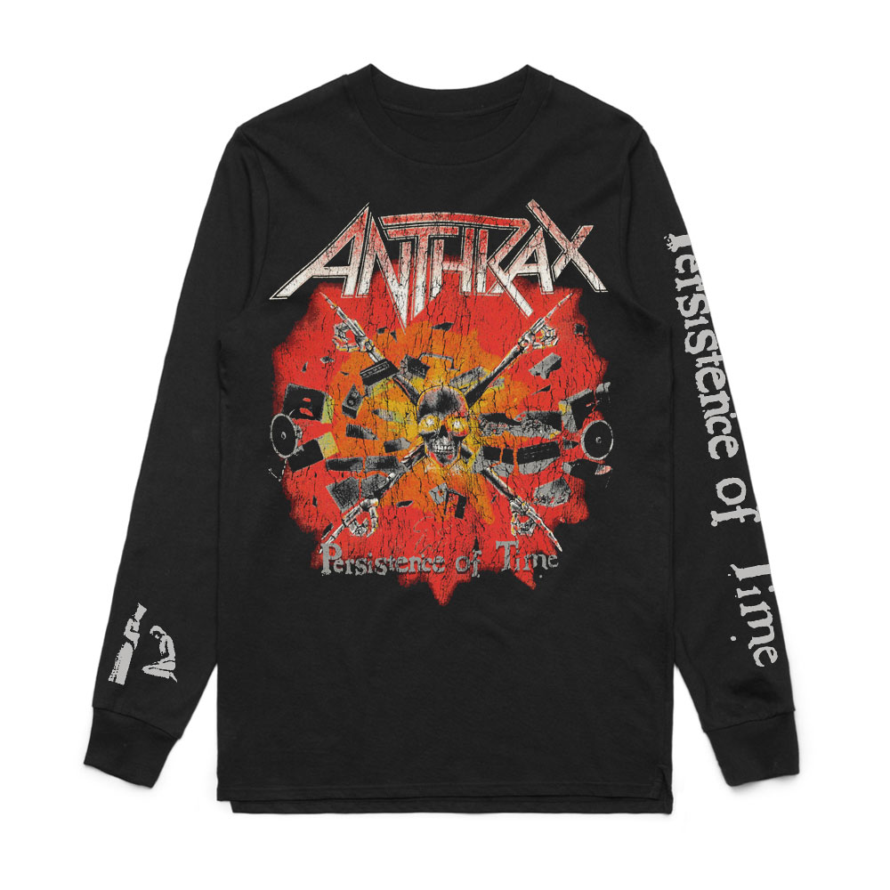 Anthrax - Persistence of Time Crossbones Long Sleeve Tee