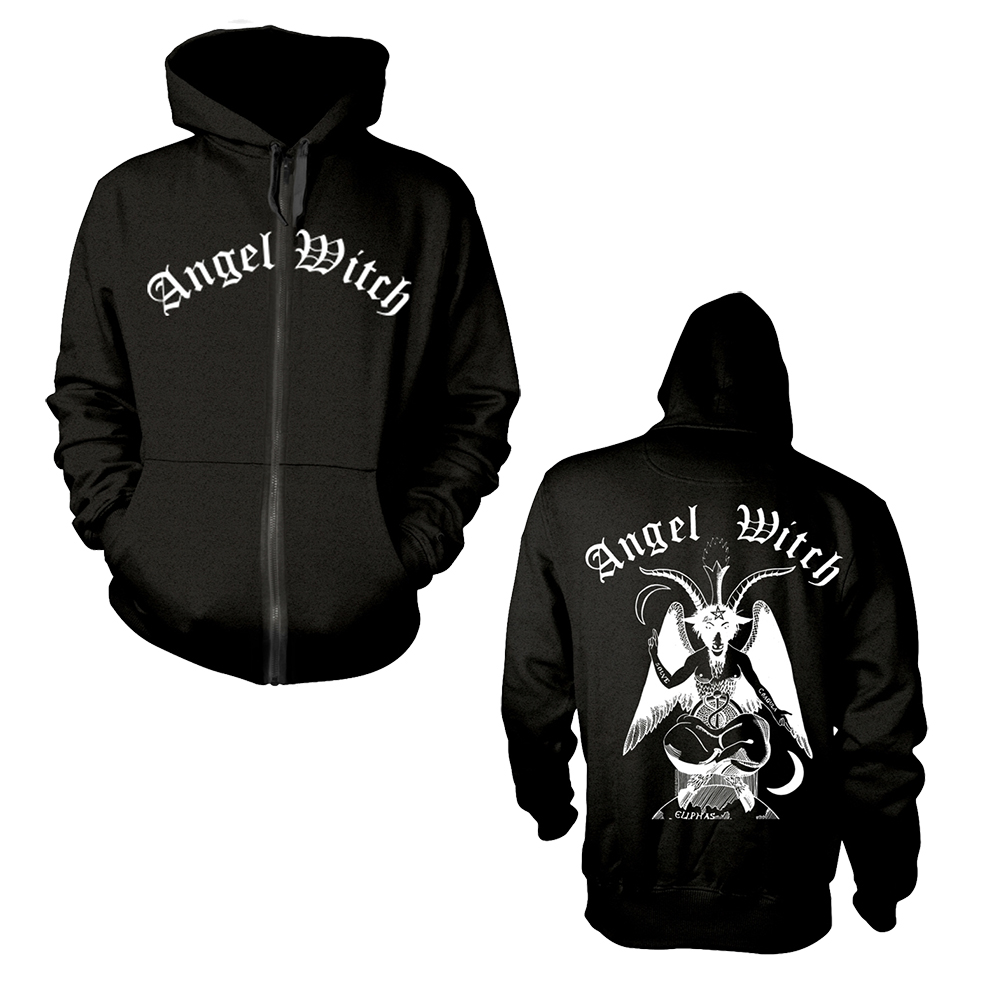 Angel Witch - Baphomet (Black Zip Hoodie)