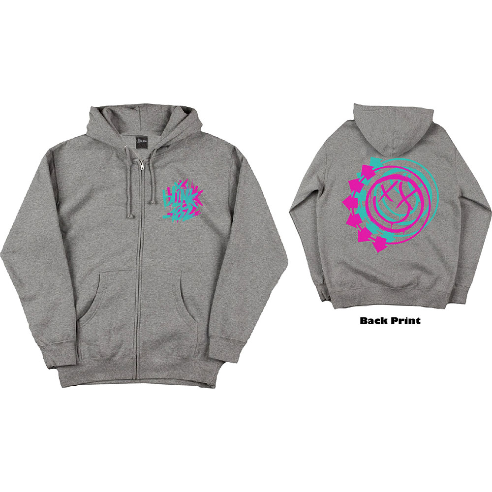 Blink 182 - Double Six Arrow Smiley (Back Print)