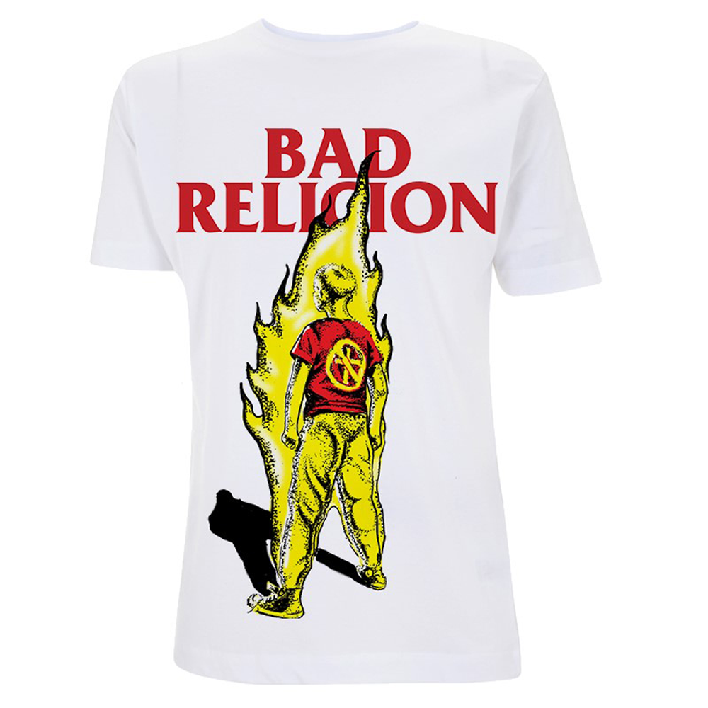 Bad Religion -  Boy On Fire (White)