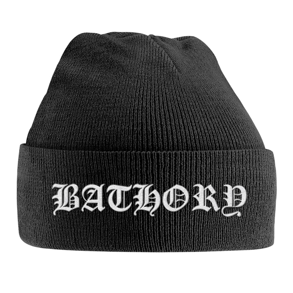 Bathory - White Logo (Embroidered Ski Hat)