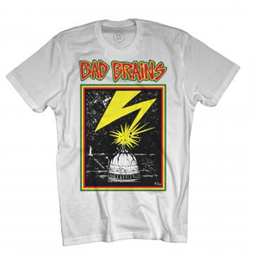 Bad Brains - Distressed Capitol On White