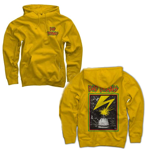 Bad Brains - Front Logo On Yellow (Hoodie)