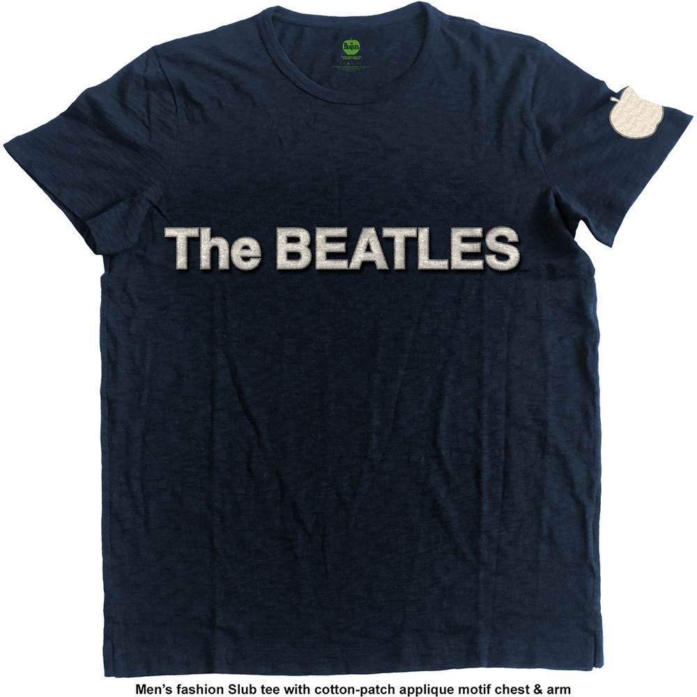 Beatles - Logo And Apple with Applique Motifs (Navy)
