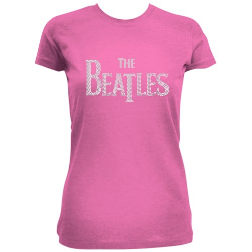Beatles - Drop T Logo (Diamante) Pink