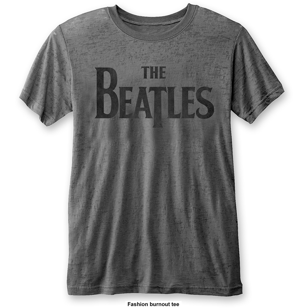 Beatles - Drop T Logo (Burn Out) Grey