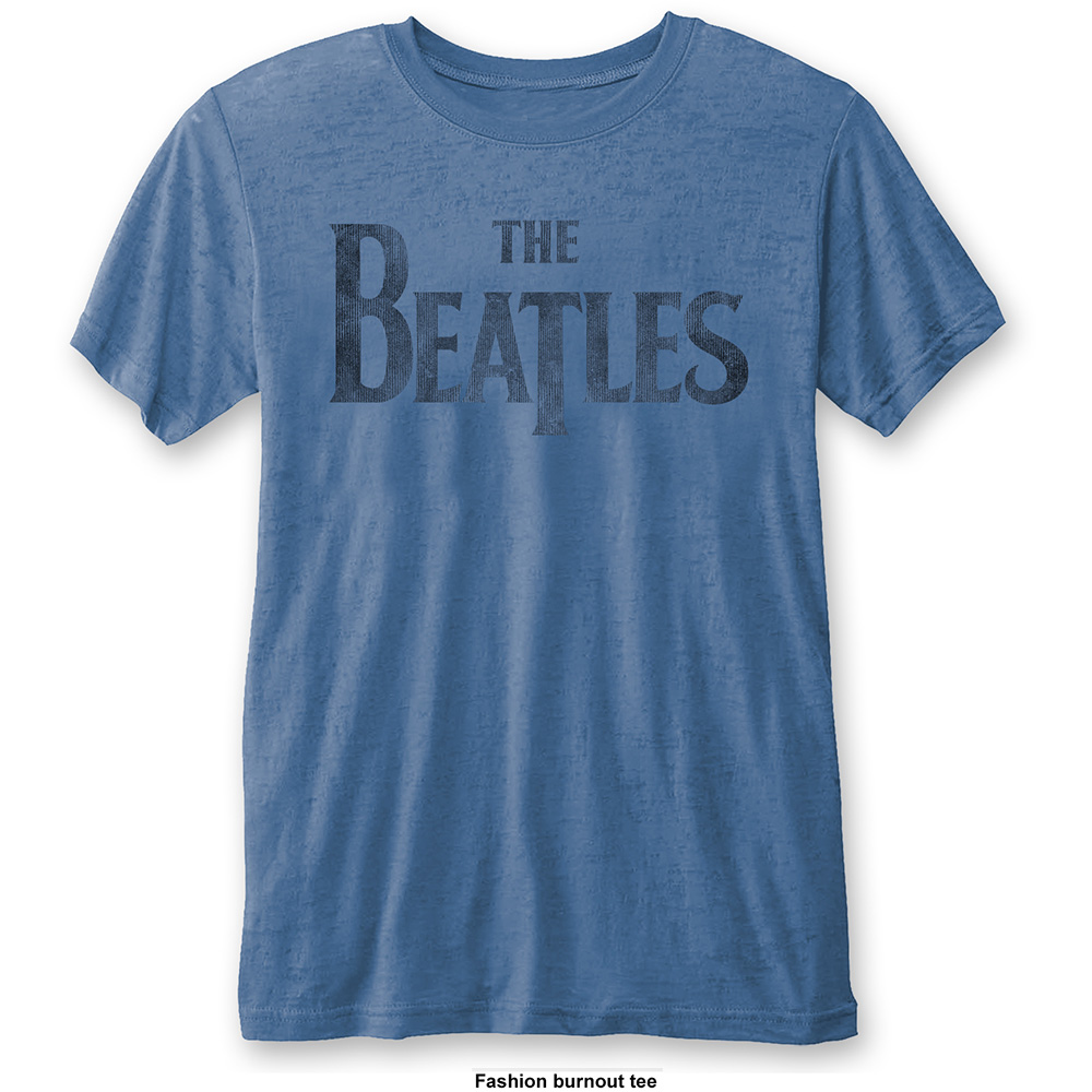 Beatles - Drop T Logo (Burn Out) Blue