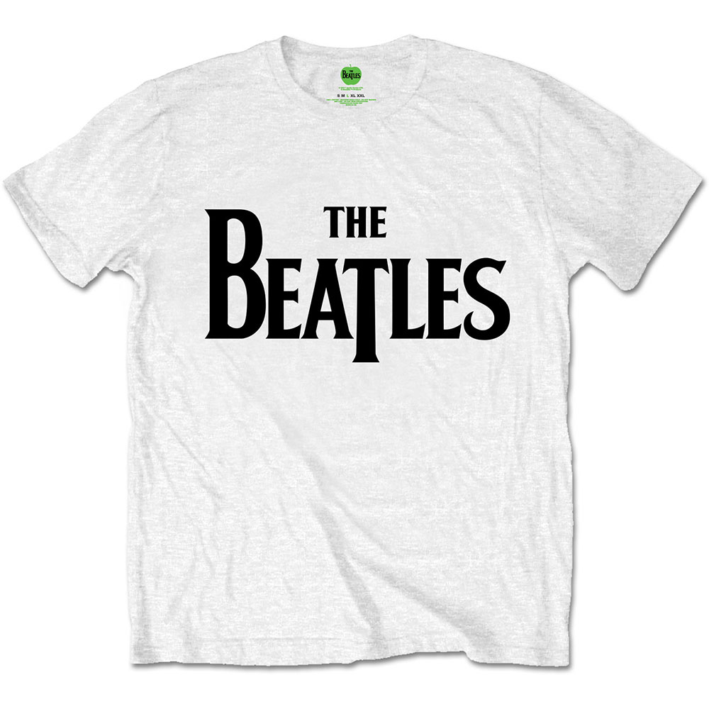 Beatles - 'Drop T Logo' White
