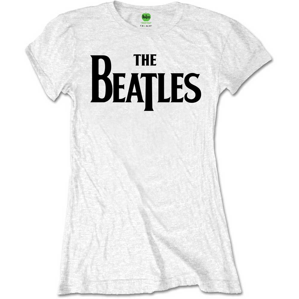 Beatles - Drop T Logo White
