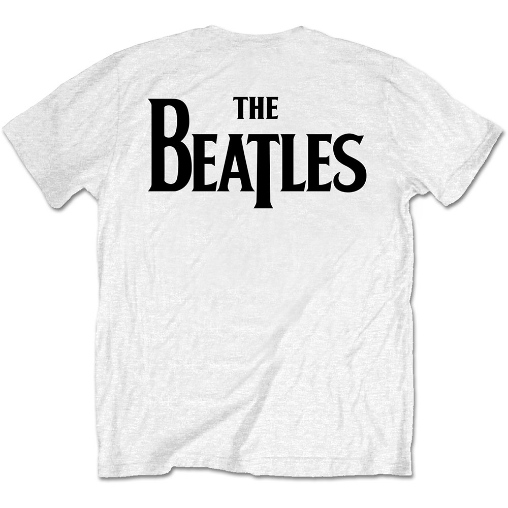 Beatles - Drop T Logo (Back Print) White