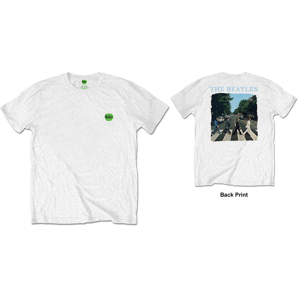 Beatles - Abbey Road & Logo (Back Print) White