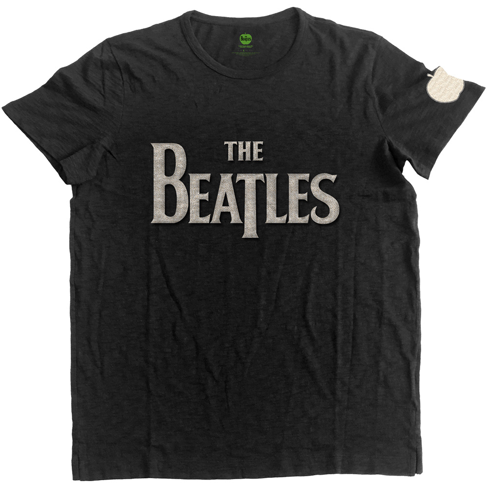 Beatles - Drop T Logo with Applique Motifs (Black)