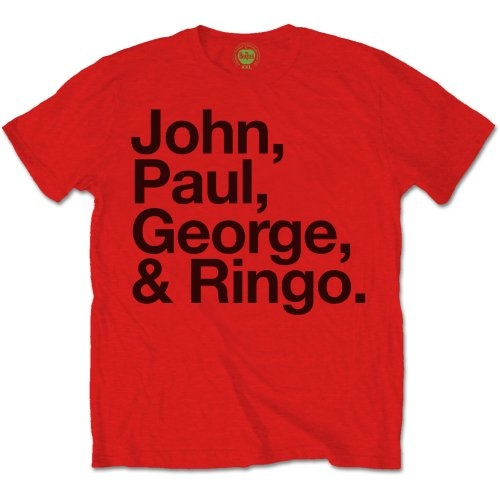 Beatles - John-Paul-George-Ringo (Red)