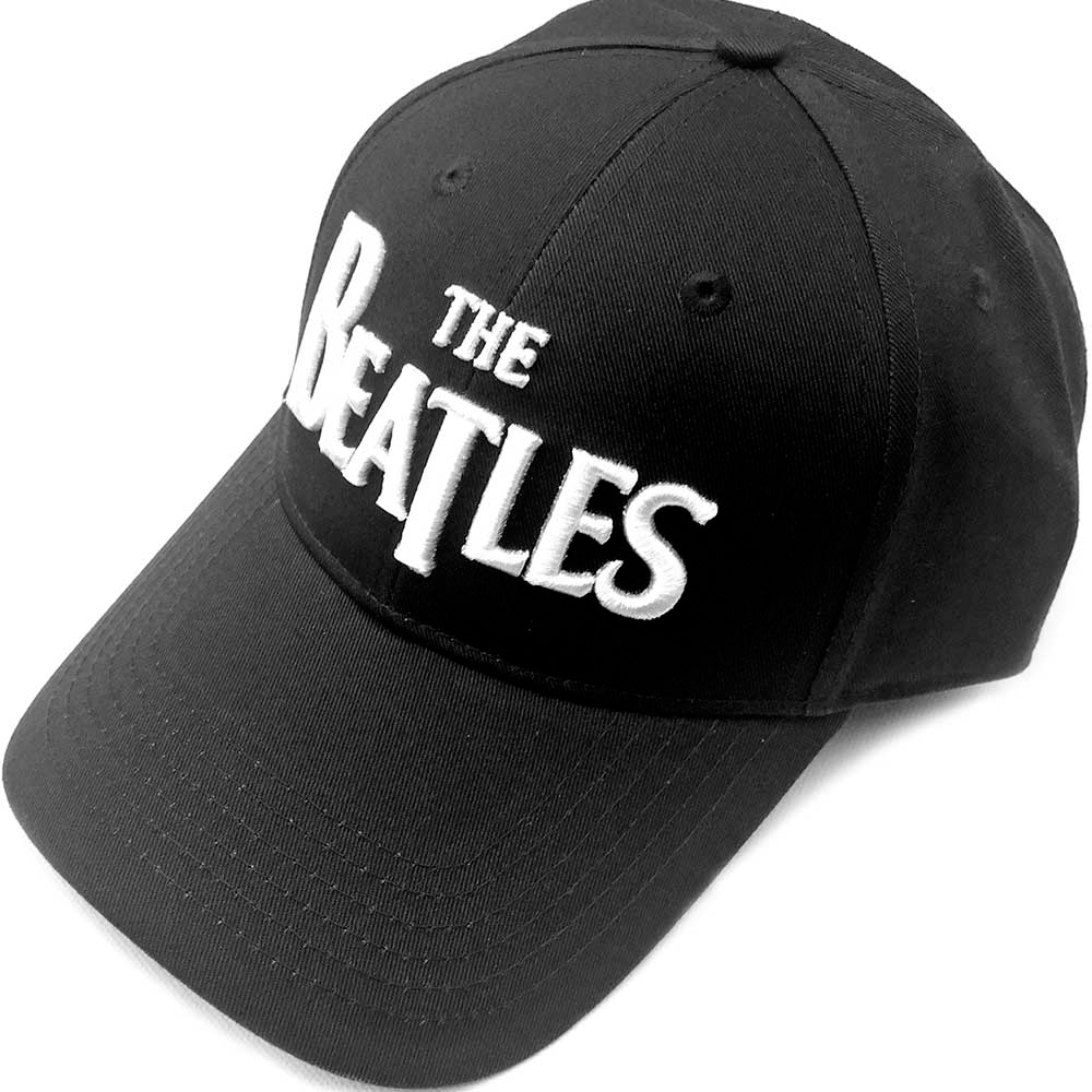 Beatles - Drop T Logo (Black Baseball Cap)