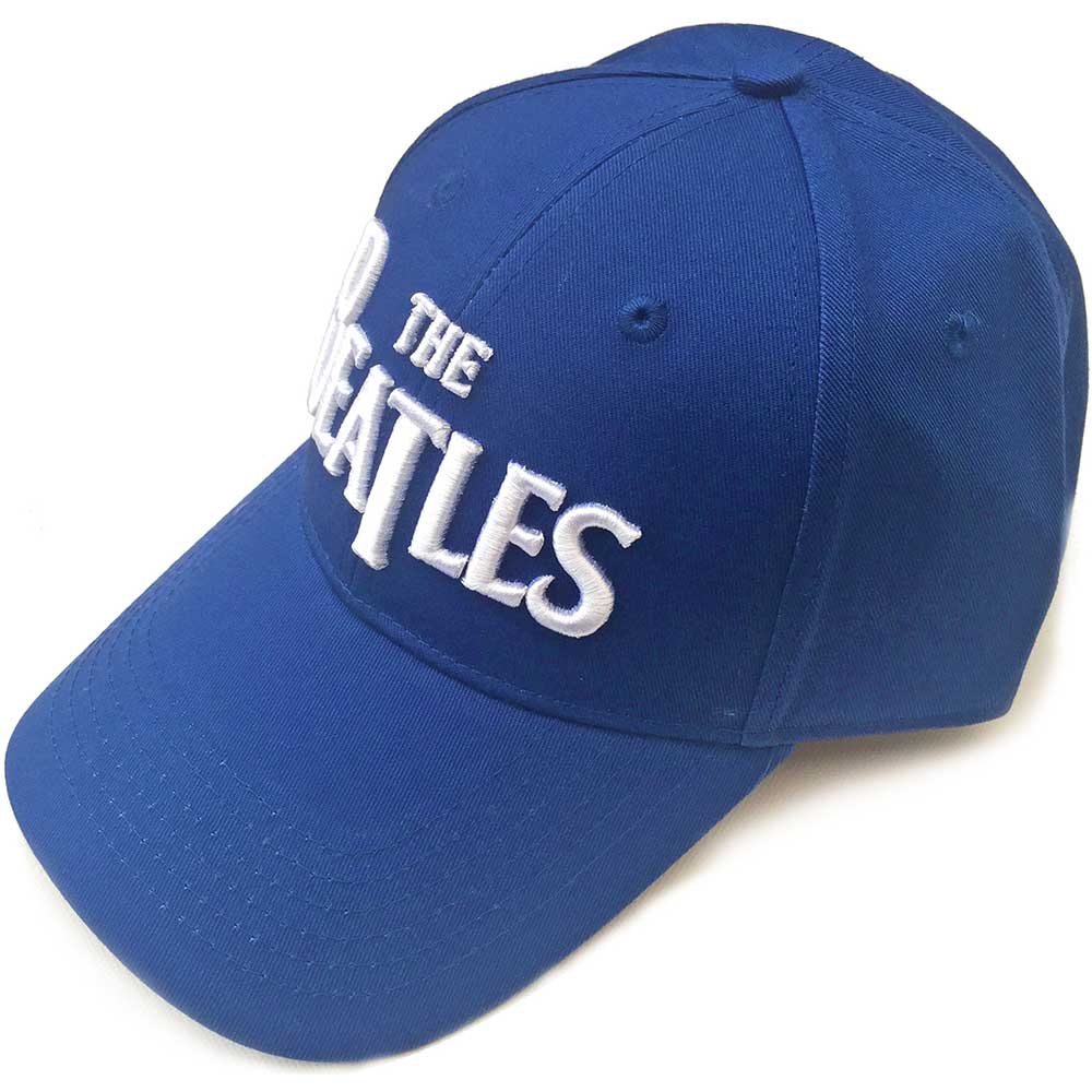 Beatles - White Drop T Logo (Mid Blue Baseball Cap)