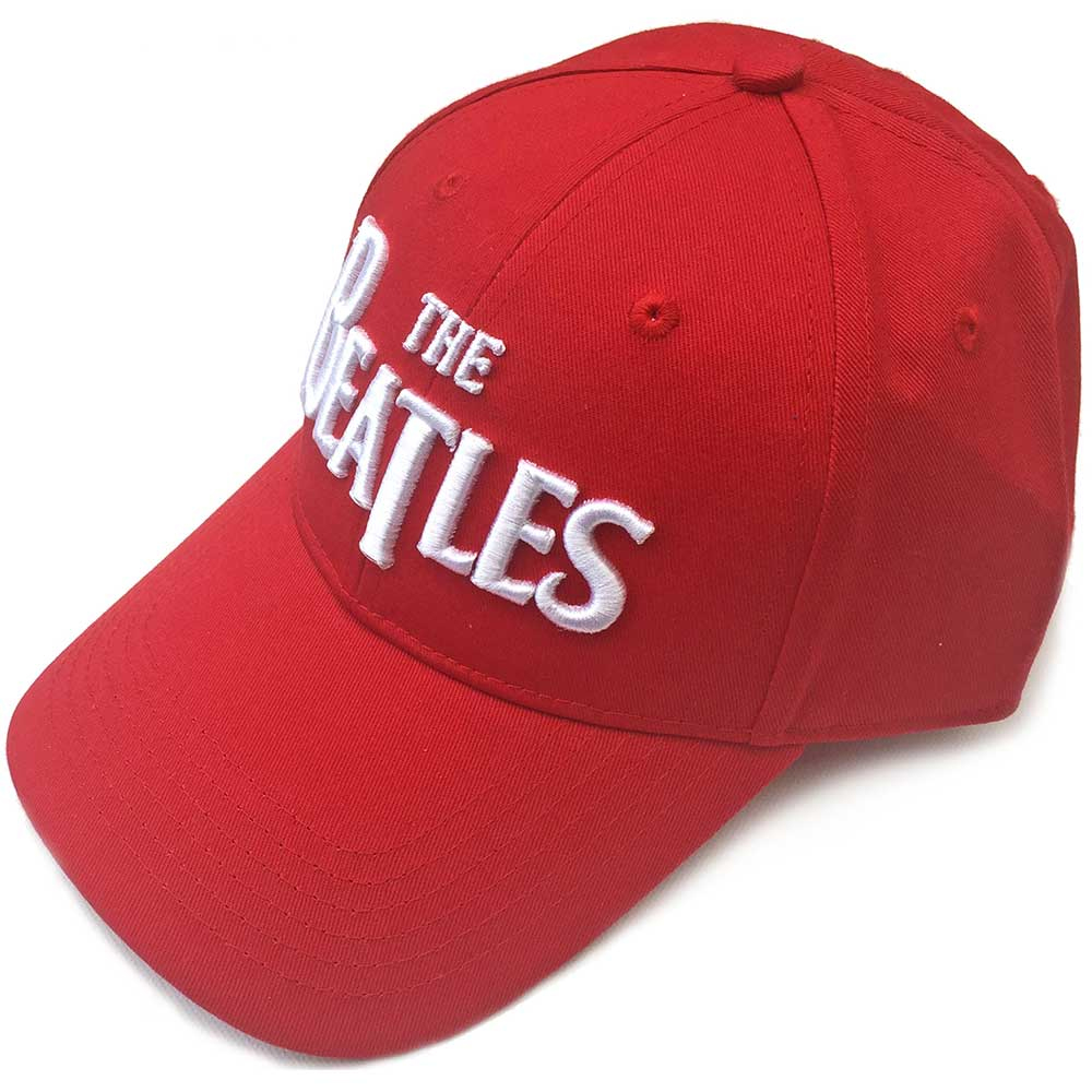 Beatles - White Drop T Logo (Red Baseball Cap)