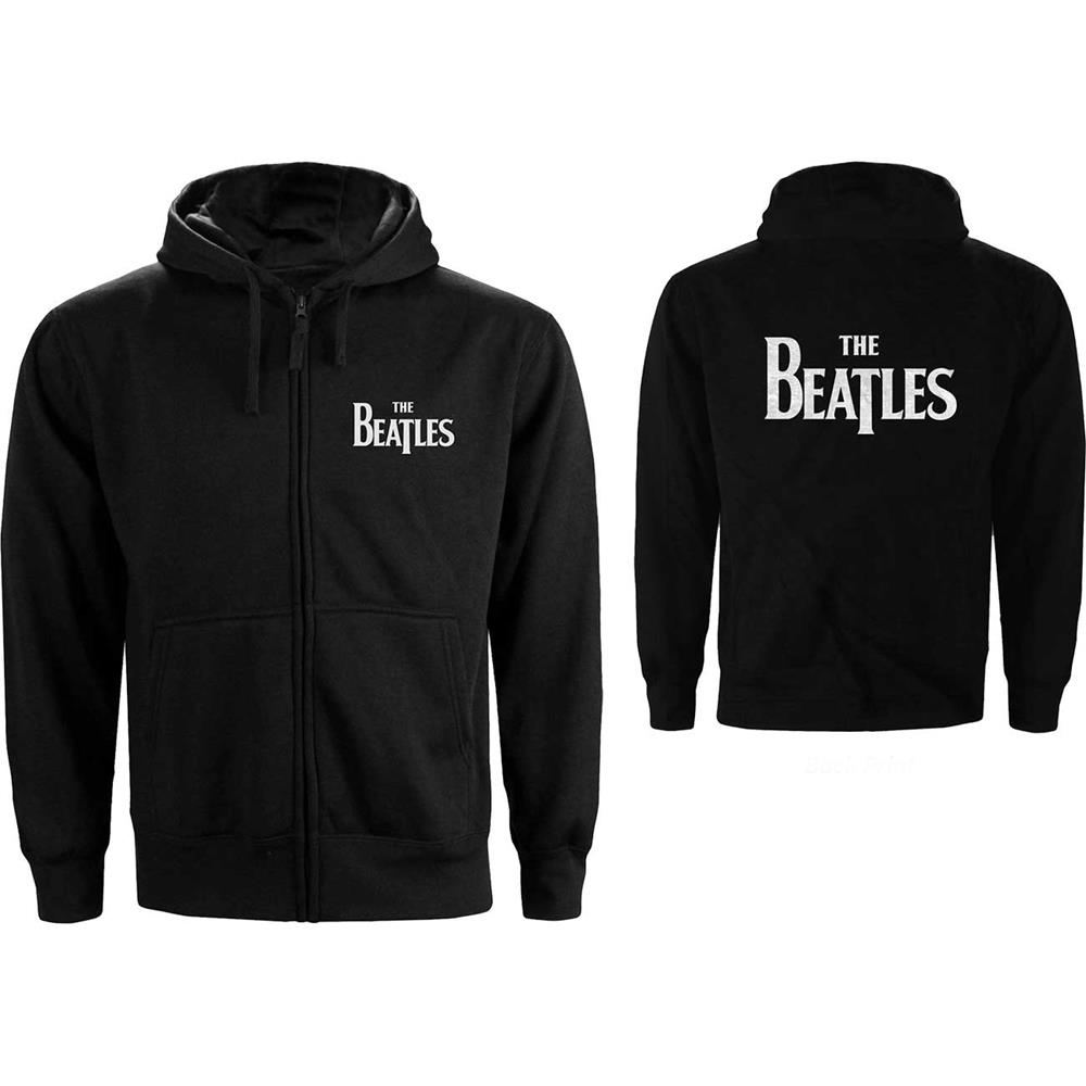 Beatles - Drop T Logo (Back Print) (Zip Hoodie)