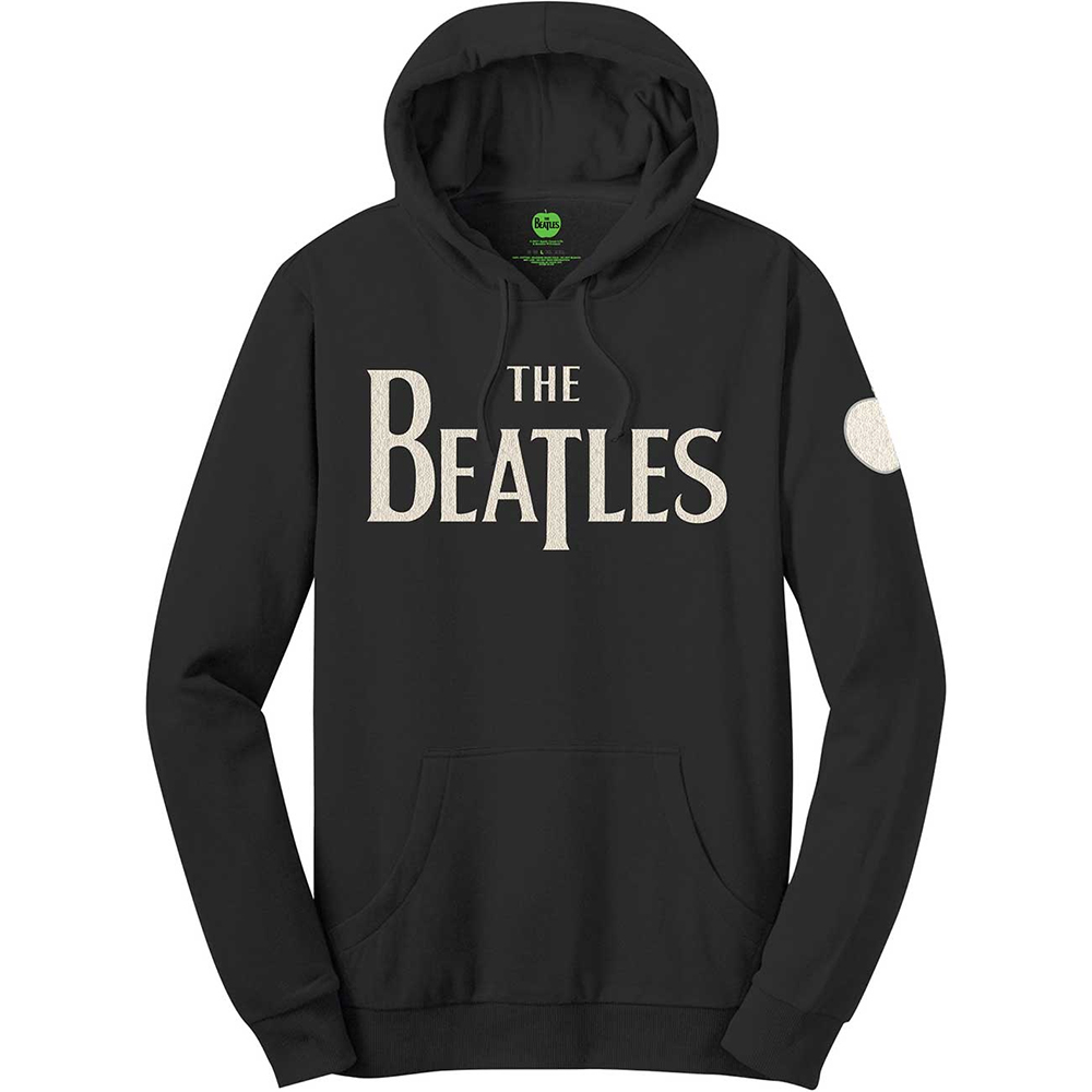 Beatles - Logo & Apple (Applique Motifs Hoodie)
