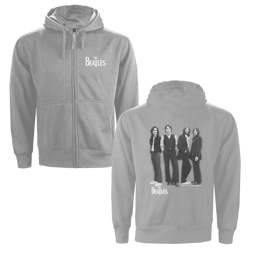 Beatles - White Album (Back Print) ) (Grey Hoodie)