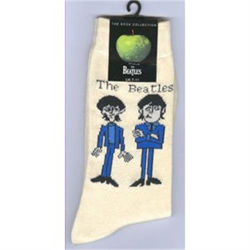 Beatles - Cartoon Standing (UK Size 7 - 11) White