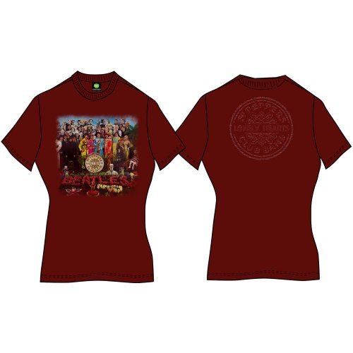 Beatles - Sgt Pepper (Back Print) Red