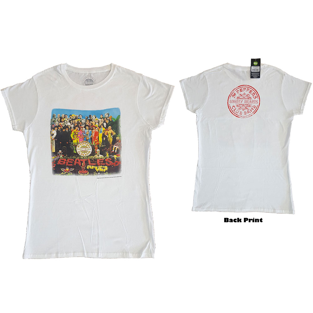 Beatles - Sgt Pepper (Back Print) White