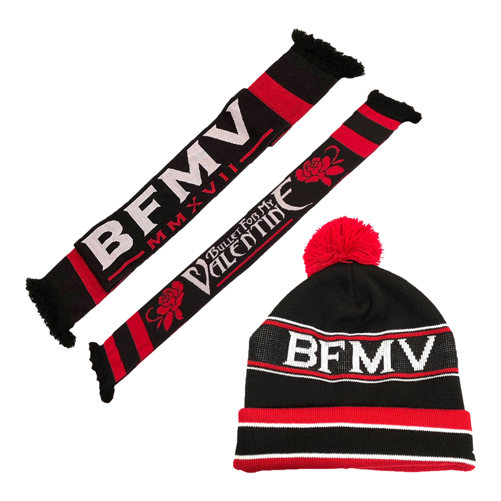 Bullet For My Valentine - Logo Woven Scarf and Beanie