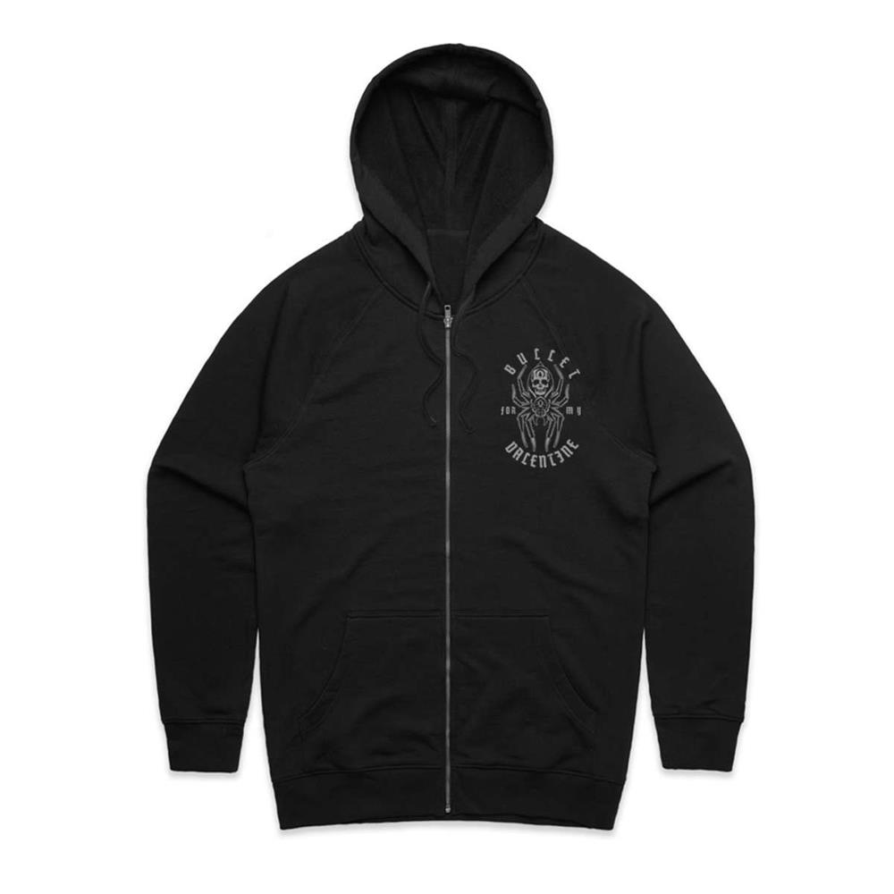 Bullet For My Valentine - Spider Zip Hoodie (Black)