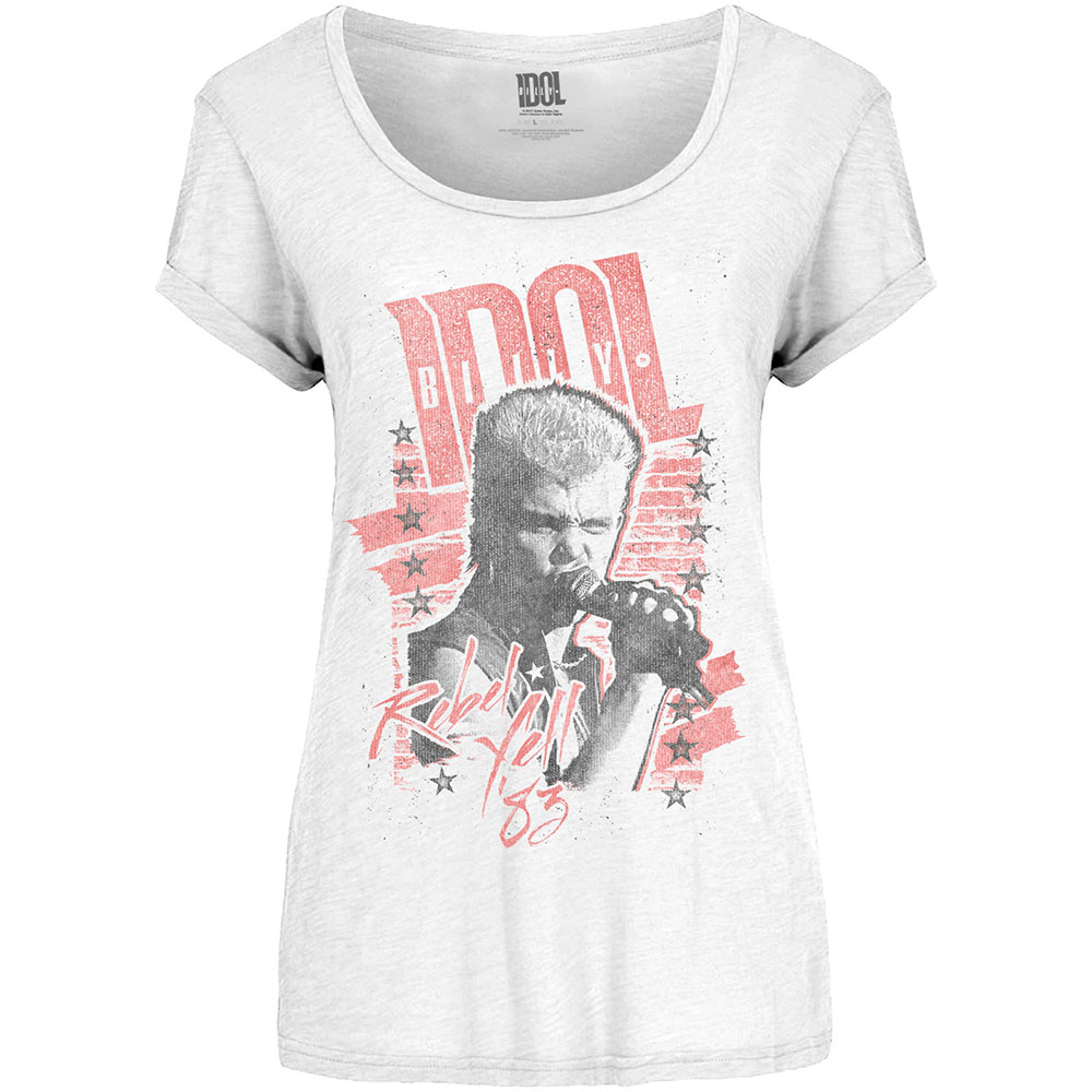 Official Billy Idol Rebel Yell Cover T-Shirt White Wedding Mony Mony New Merch
