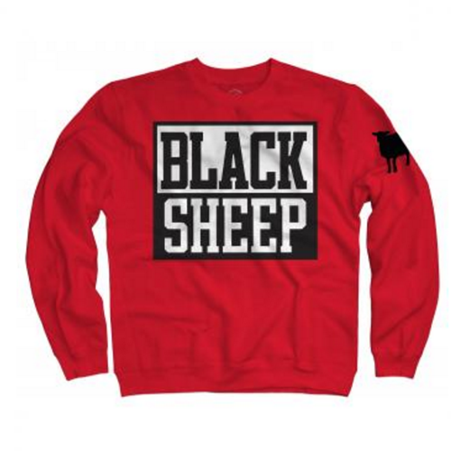 Black Sheep - Block Logo ( Red Crewneck Sweatshirt)