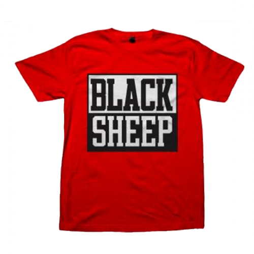 Black Sheep - Block Logo On Red
