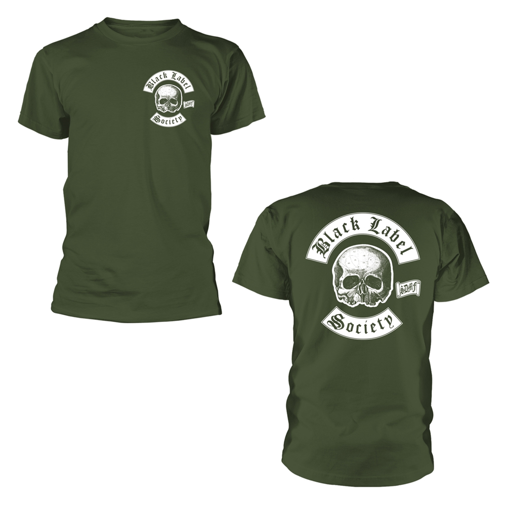 Black Label Society - Skull Logo Pocket (Olive)