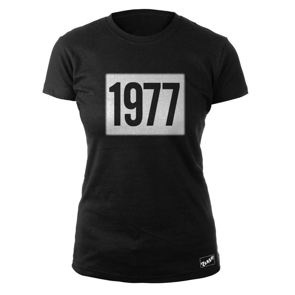 Black Market Clash - 1977 Ladies Black T-Shirt