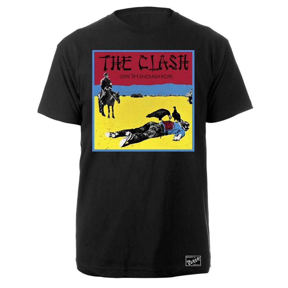 Black Market Clash - Give 'Em Enough Rope Black T-Shirt