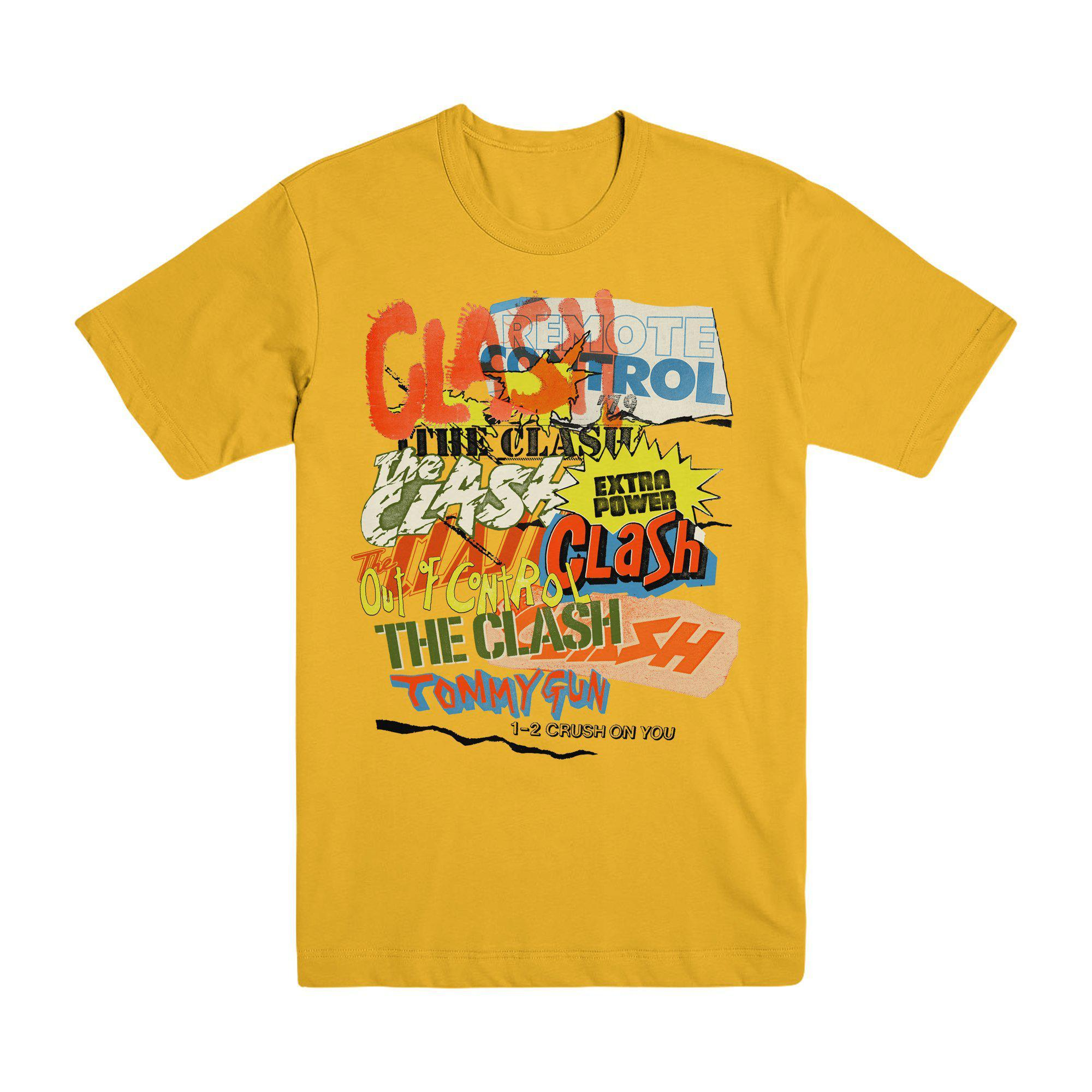 Black Market Clash - Singles Collage Gold T-shirt