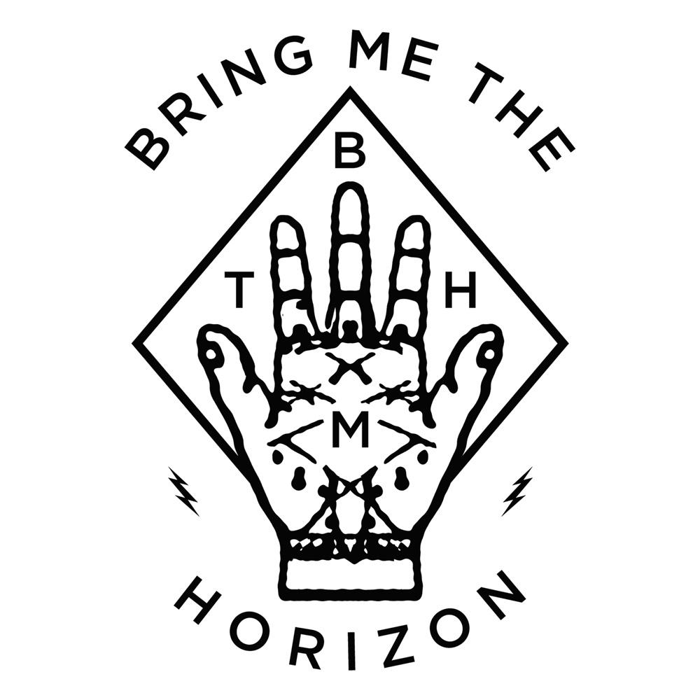 Kerrang magazine diamond hand white tank top bring me the horizon buycottarizona