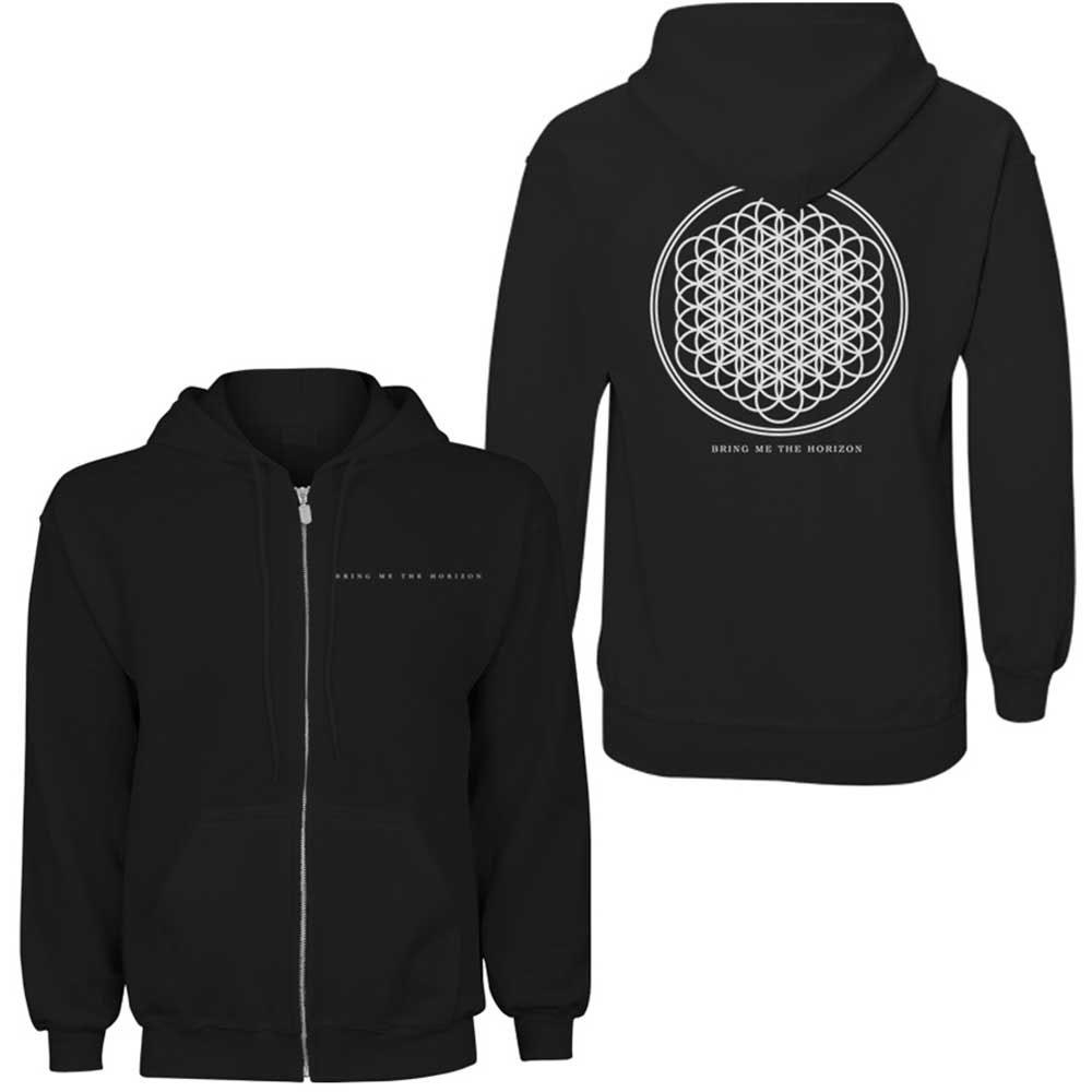 Bring Me the Horizon - Flower of Life (Back Print) (Ladies Zip Hoodie)