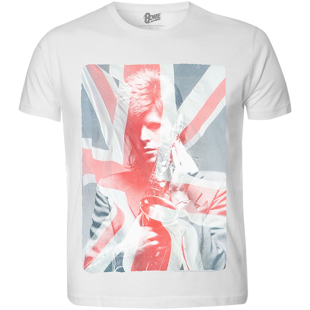 David Bowie - Union Jack And Sax (White)