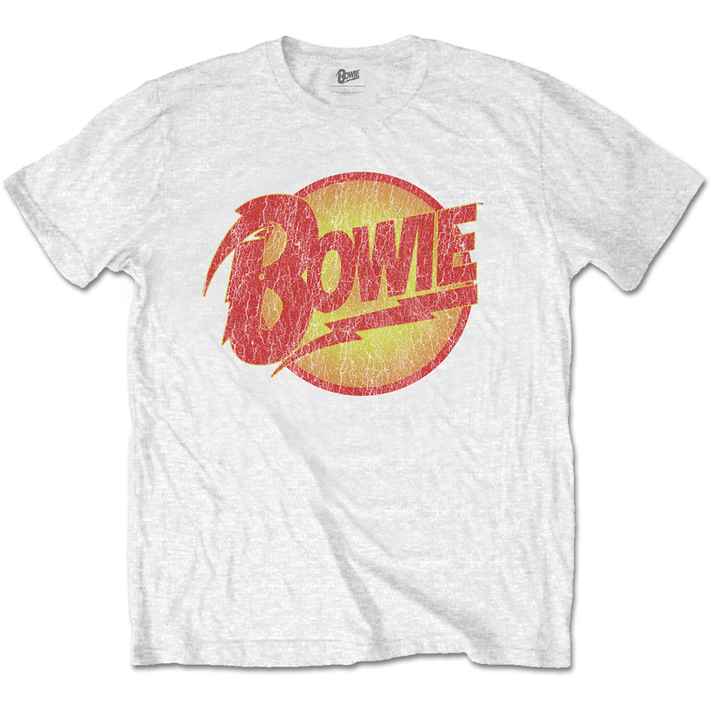 David Bowie T Shirt Smoking portrait Logo new Official Womens Skinny Fit White
